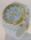 Montre Femme bracelet silicone softouch Dia 4,5 cm blanche